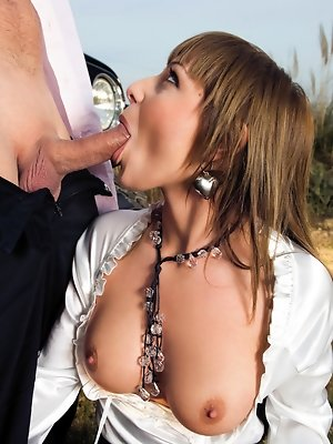 Booted up horny chick takes on big hard cock